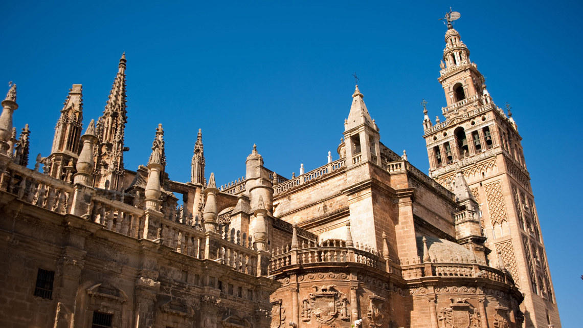 Seville Cathedral. The country villa 'Villa Moral' is an ideal base for touring in Andalucia.  Book it from Napier Hastings