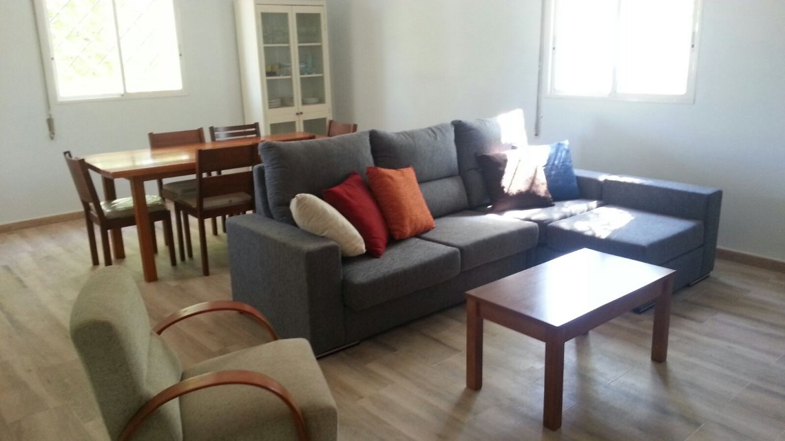 Comfortable living-room. New furniture, fully equipped kitchen. Book it from Napier Hastings